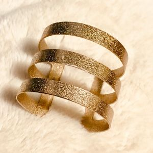 Triple Gold Band Cuff